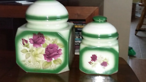 Beautiful cannister set $25