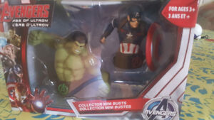 Captain America and Hulk bust