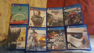 Selling these 8 ps4 games for a price of 20$ up to 50$