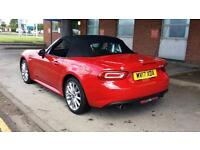 2017 Fiat 124 Spider 1.4 Multiair Lusso Plus 2dr Manual Petrol Convertible