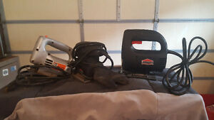 2 jig saws and 1 electric sander