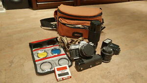Canon AE-1 35mm Camera Package
