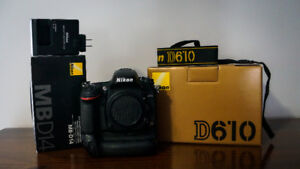 NIKON D610 AND BATTERY GRIP