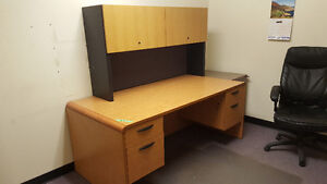 Office Desk with Upper Cabinet