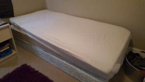 Free twin mattress and boxspring
