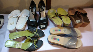 5 pair of women shoes $2.50ea or all for $10