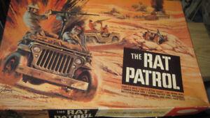 Rat Patrol military kit, Aurora, 1960s in original box