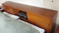 Retro Vintage 6 piece Bedroom Set teak-like solid wood