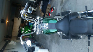 Lucky green flake hard candy customs softail