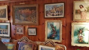 Vintage ART SALE Quality oil paintings various artists West Island Greater Montréal image 8
