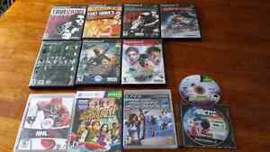 PS2 PS3 XBox Games assorted