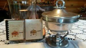 Antique Buenilum Chafing Dish and Recipe manual