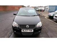 VOLKSWAGEN POLO 1.2 S IN BLACK ALLOYS ELEC WINDOWS ONLY £14 WEEK P/LOAN 57 REG