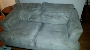 $40 OBO Suede loveseat/couch from The Brick