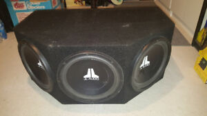 3 JL Audio 12W3 V2 Subs. Dual Voice Coil. Good condition.