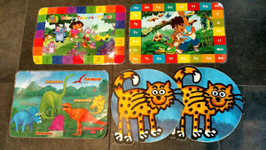 5 Diego, Dora, Dinosaur & Cat laminated placemats​