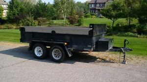 1 year old 7000lbs dump trailer