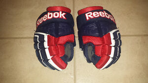 Youth Hockey Gloves - Reebok - Blue & Red