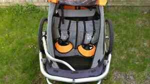 Chariot MEC Double - chariot poussete / remorque velo  Pour 2 en