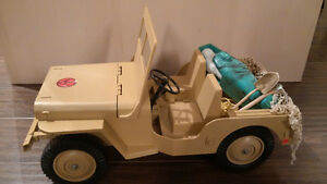 GI JOE 1970'S JEEP AND MUMMY'S TOMB,with 2 outfits