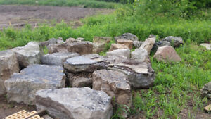 Assorted armourtone and weathered limestone rock for sale