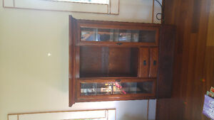 Solid oak display cabinets