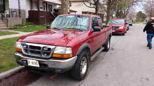 2000 Ford Ranger Truck, Tool Box and Snow Plow Attachment