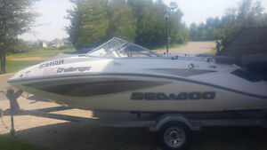 Seadoo Challenger 180, 2008, 8 places, moteur Rotax 215 hp
