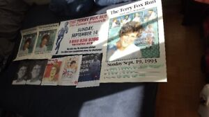 9 TERRY FOX  ITEMS PACKAGE DEAL!4 POSTERS,3 MAGS,2 8x10 pix
