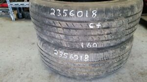 Pair of 2 Kumho Crugen Premium 235/60R18 tires (65% tread life)