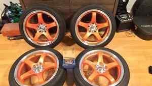 225/45/17 escta tires rims wheels mags