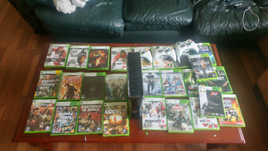Latest Edition Xbox 360 w/ 3 controllers + tons of games
