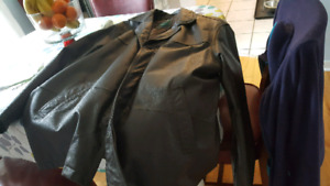 Men's Leather coat.