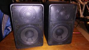 Realistic Minimus 7 small bookshelf speakers. Very good sounds.