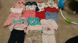 Girls 0-3 month Carters outfits