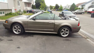 Ford mustang GT 2002, decapotable, gris mineral, manuel V8