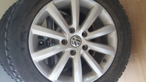 4 Mags VW Touareg 2017 sur pneus d hiver p255-55r18