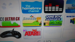Modded wii 5000 games and control s