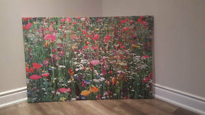 Large Ikea Field of Flowers Print 4ft x 3ft