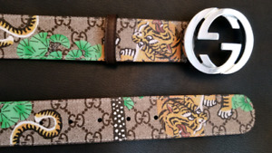 GUCCI BENGAL TUGER BELT CEINTURE BRAND NEW IN BOX AUTHENTIC NEW