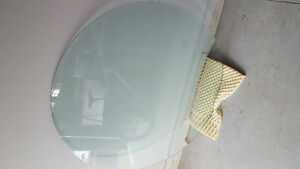 4 foot diameter tempered glass table top