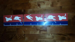 Hockey themed growth chart