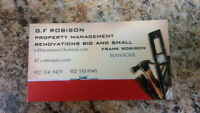 G.F. ROBISON RENOVATIONS AND PROPERTY MANAGEMENT