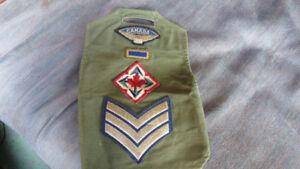 Army badges on a slip-on sleeve(1965)