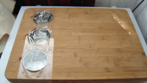 16.5 x 22 cutting board with removable bowls