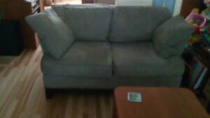 Couch and loveseat for sale. Neutral colour and very comfortable