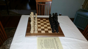 New hand carve chess set