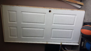 Door with frame and trim