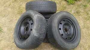 4 Steel Rims-5 Bolt Pattern- Fits Pontiac & Various Chevy... Cambridge Kitchener Area image 2