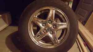 4 goodyear tires with chrome rims (read the ad before messaging)